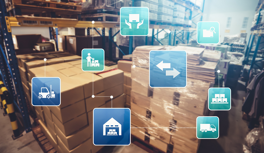 supply chain and logistics concept